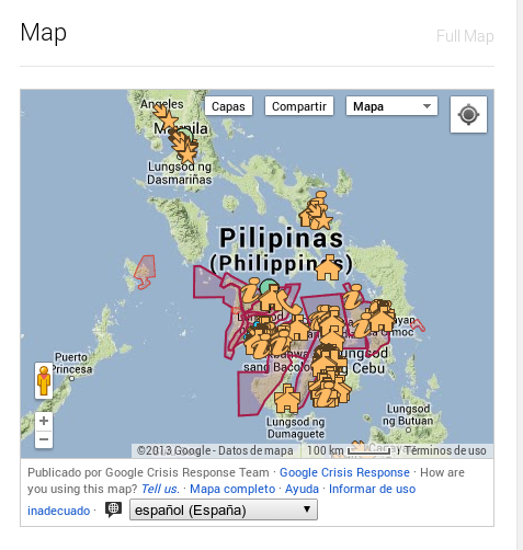 Typhoon Yolanda Relief Map